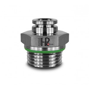 Iespraudiet dzelksnis ar taisnu nerūsējošā tērauda šļūteni 10 mm vītne 1/2 collas PCS10-G04