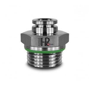 Iespraudiet dzelksnis ar taisnu nerūsējošā tērauda šļūteni, 8 mm vītne, 1/2 collas PCS08-G04