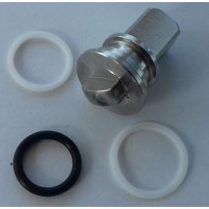 Remonta komplekts augstspiediena trīsceļu vārstam 3/8 un 1/2 cala ss304 HB3