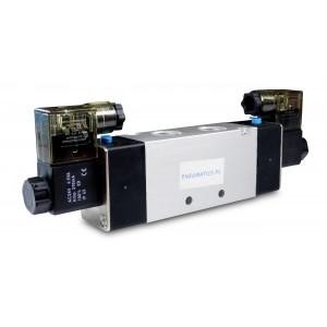 Solenoīda vārsts 4V220 5/2 1/4 collas pneimatiskajiem cilindriem 230 V vai 12 V, 24 V