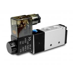 Solenoīda vārsts 5/2 4V410 1/2 collas pneimatiskajiem cilindriem 230 V vai 12 V, 24 V
