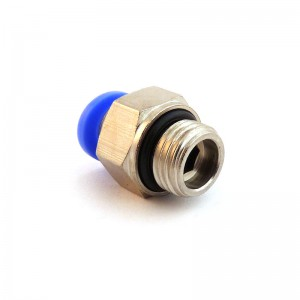 Pievienojiet dzelksnis taisnu šļūteni 6 mm vītnei 3/8 collu PC06-G03
