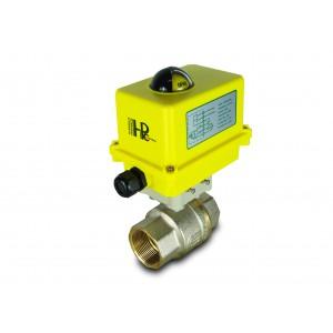 Lodveida vārsts 1 1/2 collu DN40 ar elektrisko pievadu A250
