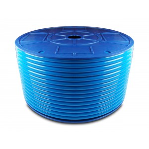 Poliuretāna pneimatiskā šļūtene PU 6/4 mm 1m zila