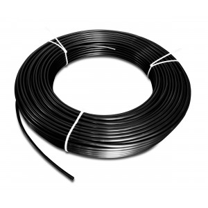 Poliamīda pneimatiskā šļūtene PA Tekalan 6/4 mm 1m melna