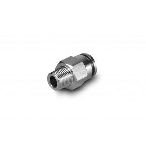 Iespraudiet dzelksnis ar taisnu nerūsējošā tērauda šļūteni 8 mm vītne 1/8 collu PCSW08-G01