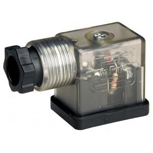 Iespraudiet pie solenoīda vārsta DIN 43650B ar gaismas diodi - mazs