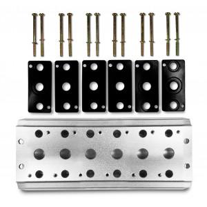 Kolektora plāksne, lai savienotu 6 vārstus 1/4 sērijas 4V2 4A grupas vārstu spailes 5/2 5/3