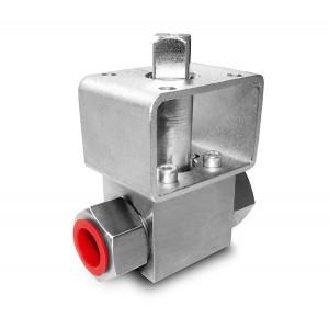 Augstspiediena lodveida krāns 1/4 collu SS304 HB22 montāžas plāksne ISO5211
