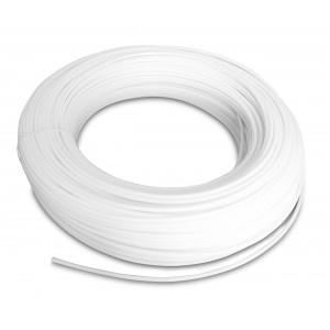 Poliamīda pneimatiskā šļūtene PA Tekalan 12/9 mm 1m balta