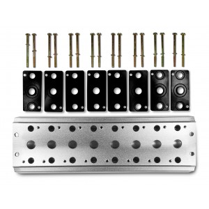 Kolektora plāksne, lai savienotu 8 vārstus 1/4 sērijas 4V2 4A grupas vārstu spailes 5/2 5/3