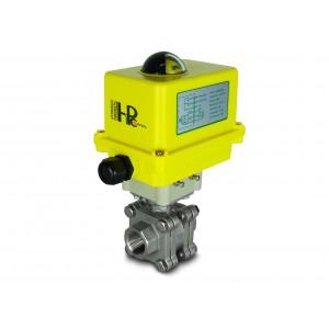3/4 collu augstspiediena lodveida krāns DN20 PN125 izpildmehānisms A250