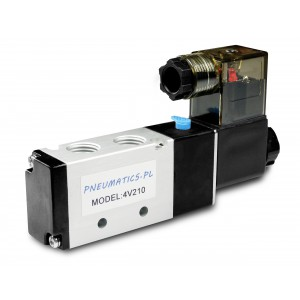 Solenoīda vārsts pneimatiskajiem cilindriem 4V210 5/2 1/4 230V 12V 24V