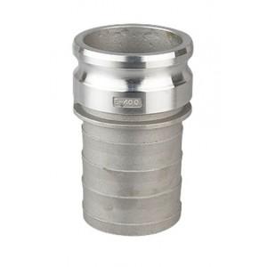 Camlock savienotājs - E tips 1 1/4 collu DN32 alumīnijs