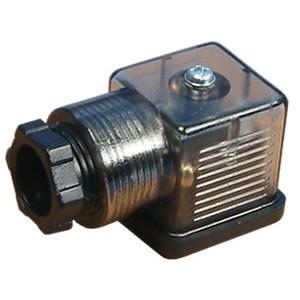 Pievienojiet elektromagnētiskajam vārstam 18mm DIN 43650 ar gaismas diodi