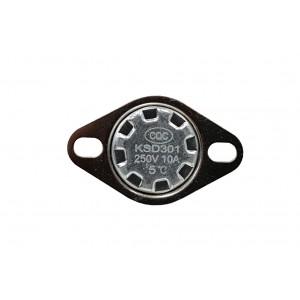 Bimetāla termostats, NC temperatūras sensors 5 ℃ 10A 230VAC tips KSD301