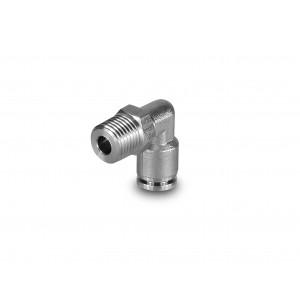Spraudkontakta leņķa nerūsējošā tērauda šļūtene, 6 mm vītne, 1/4 collu PLSW06-G02