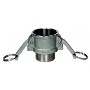 Camlock savienotājs - tips B 3/4 collu DN20 SS316